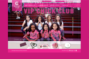 A website for VIP CHICK
